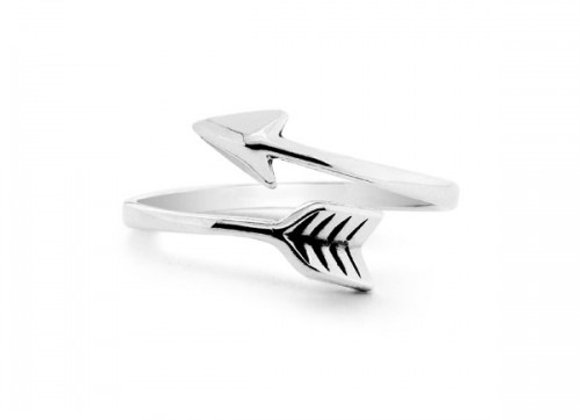 arrow silver ring