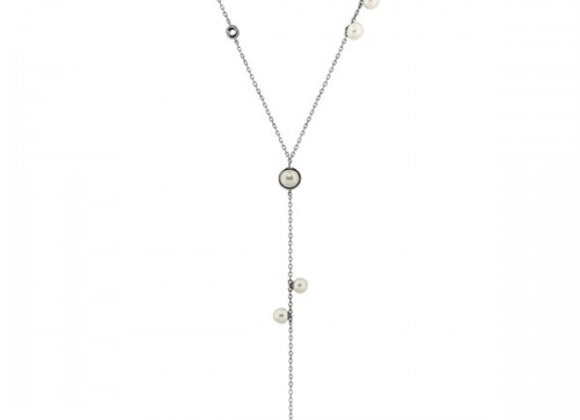 Mari silver and pearl necklace