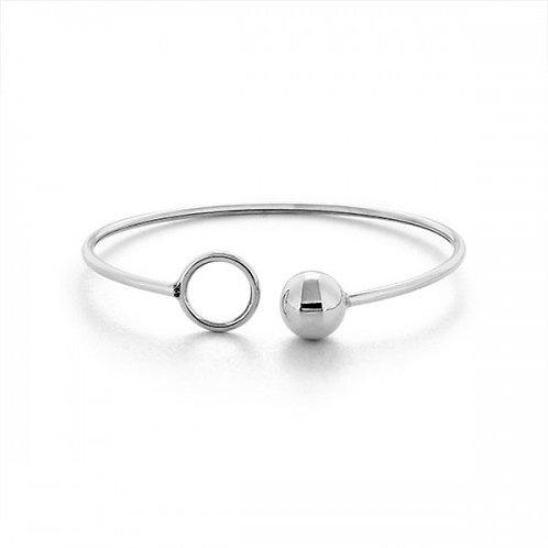 O ball zilveren armband