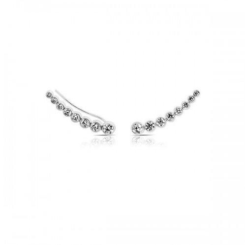 zirkoon zilveren oor 'piercing'