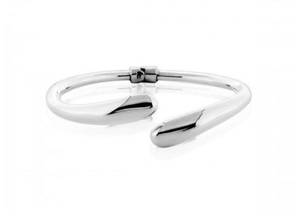 embrace plain silver bracelet