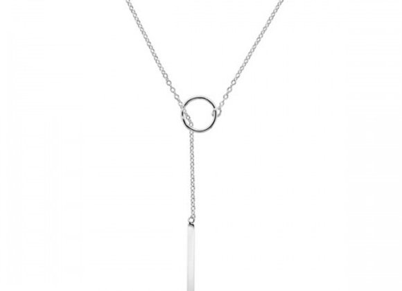 balance silver necklace