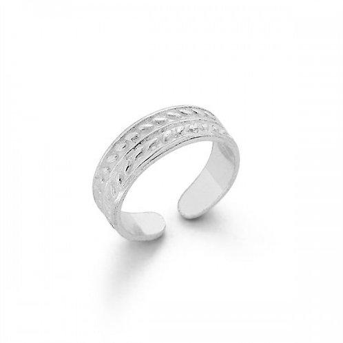 tang zilveren teen ring
