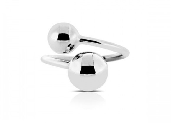 cherry silver adjustable ring
