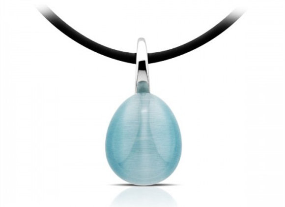 Turquoise Cat Eye Silver pendant