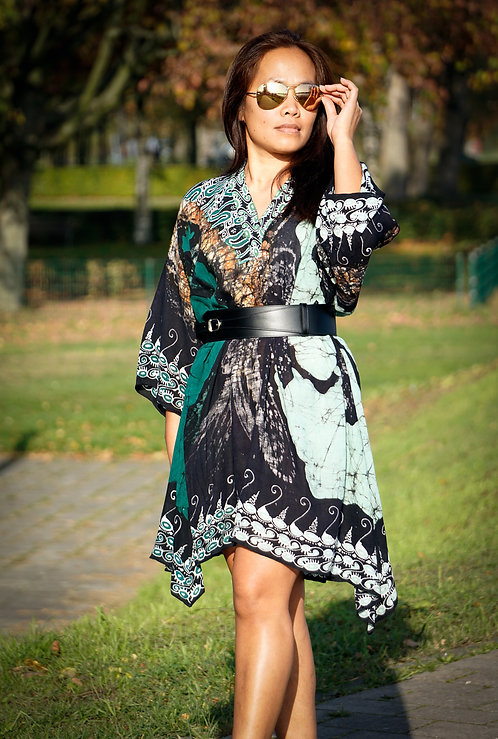 green black dress