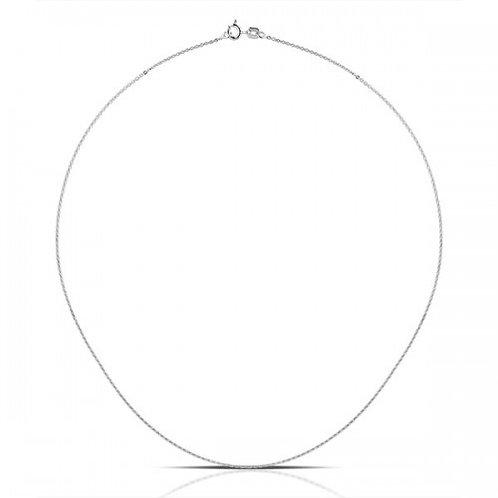 zilveren halsketting ovaal 40cm