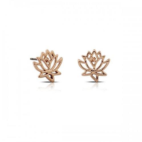 lotus roos-gouden oorbellen