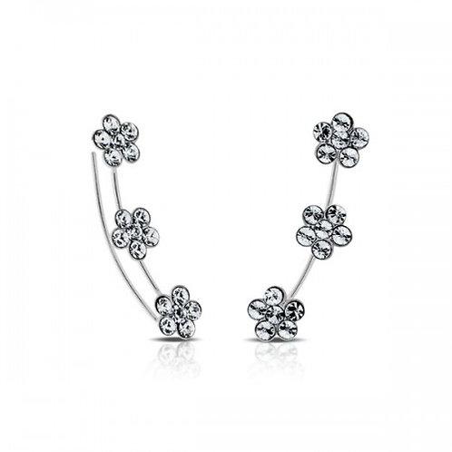 fiore kristal zilveren 'piercing'