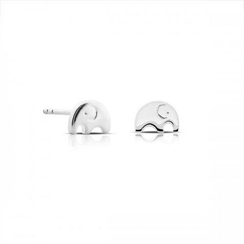 mini olifant zilveren oorbelletjes