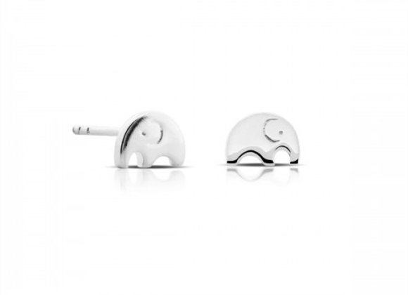 mini elephant silver earrings