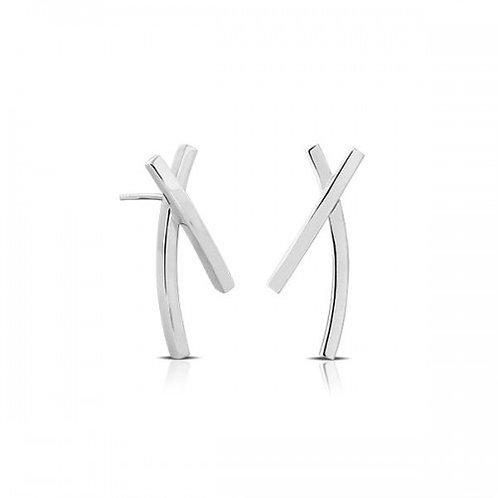 X- zilveren oorbellen