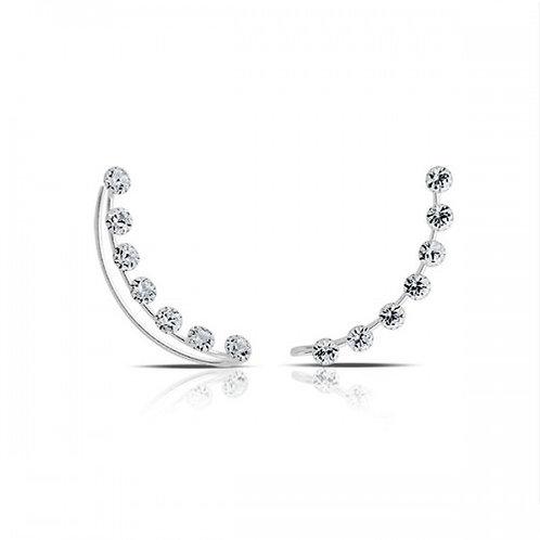 crystal bay zilveren 'piercing'