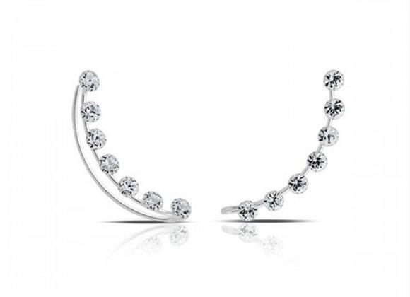 crystal bay silver earcuffs
