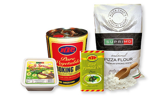 cooking oils, flour and baking