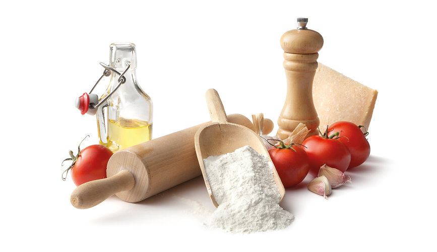 cooking oil, pizza flour, plain flour, msg, salt