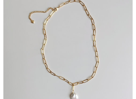 Gold Chain Dangle Necklace
