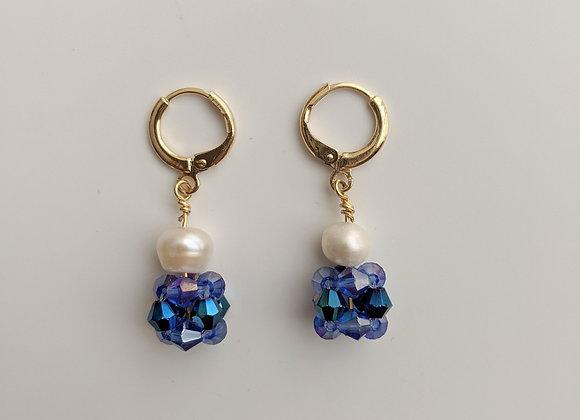 Royal Blue Orb Earrings
