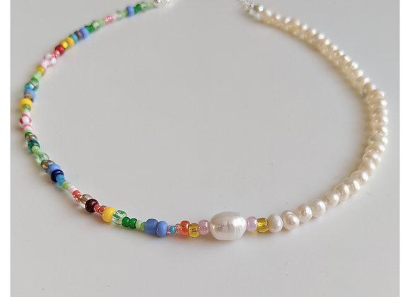 Rainbow Choker Necklace