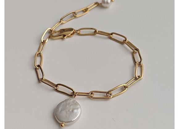 Gold Chain Dangle Bracelet