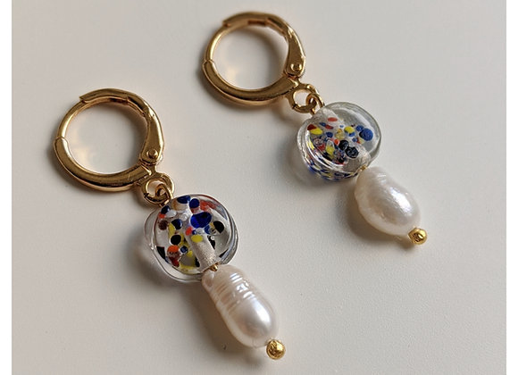 Seurat's Fireworks Earrings