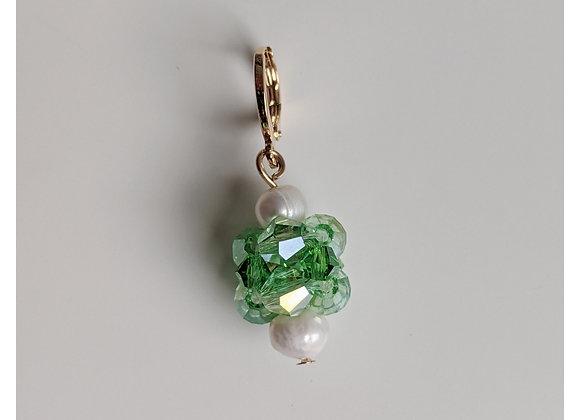 Summer Green Orb Earrings