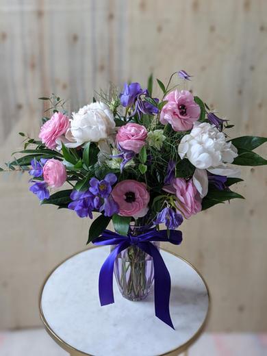 Birthday Vase (Large) Purple & Pink