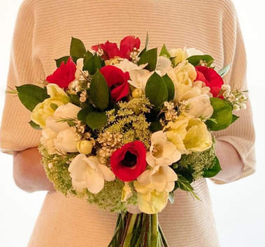 Red & White - Bridal Bouquet