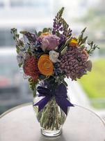 Mixed Bloom Glass Vase - Medium