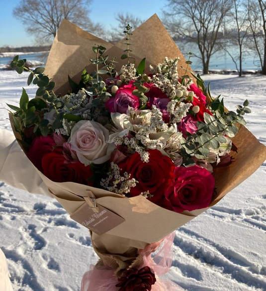 Custom Order - Two Dozen Roses Hand-tied