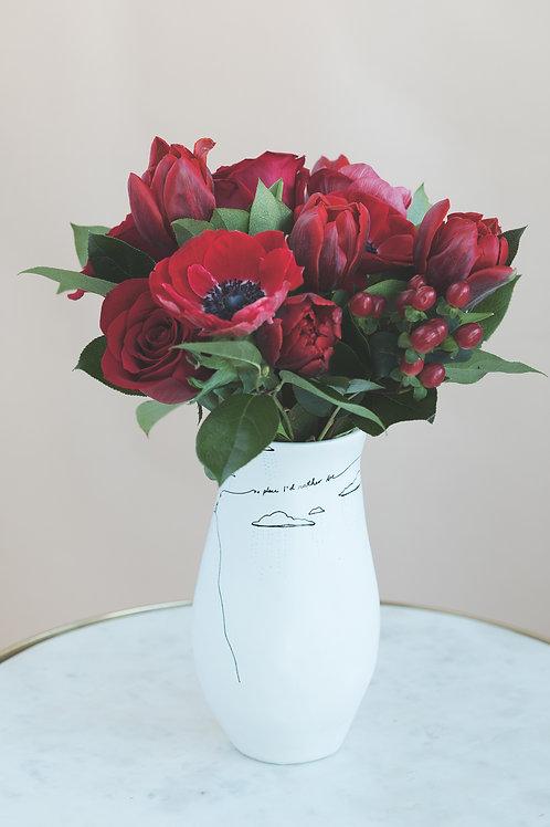 Valentine Vase Arrangement