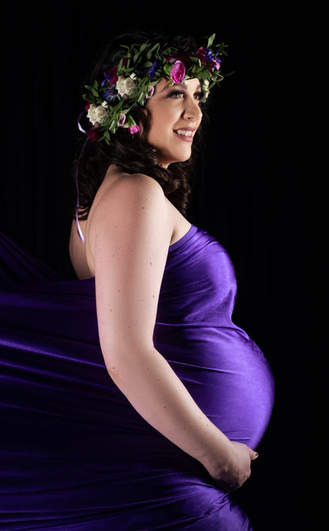 Maternity Photo - Floral Crown