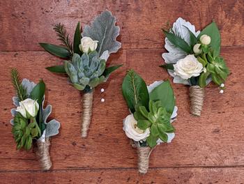 Succulent Wedding Boutonnieres
