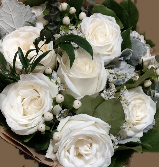 Large Hand-Tied - All White Blooms