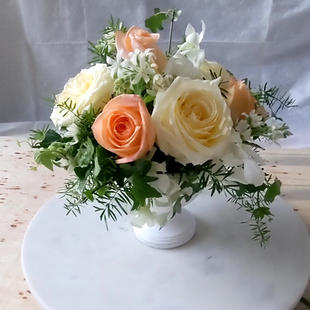Wedding Bouquet Inspired Anniversary table center