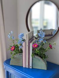 Floral Vase  bookends