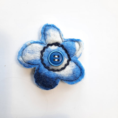 Felt flower brooch 20