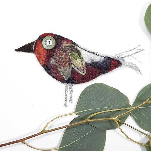 Felt bird brooch 5