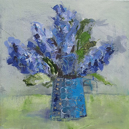 'Sweet Hyacinths' greeting card