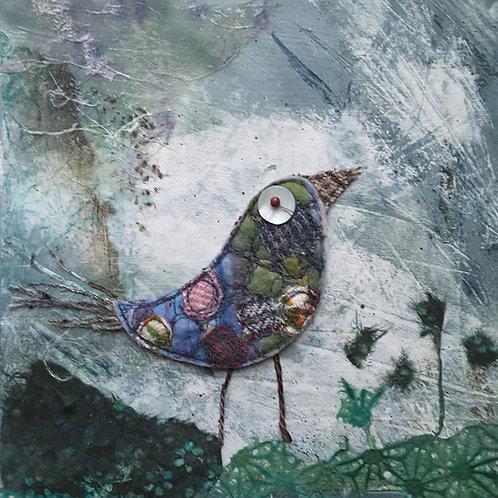 'Bird in the Bush' greeting card