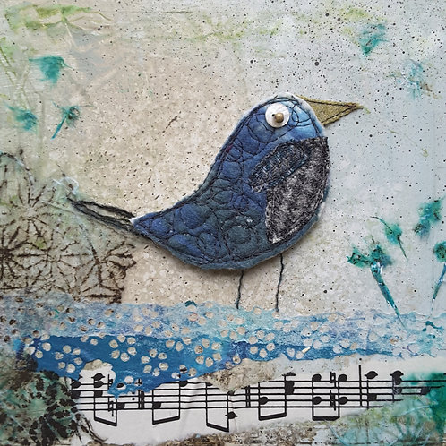 'Songbird' greeting card