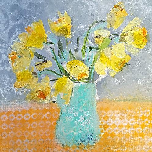 'Yellow Daffodils' greeting card