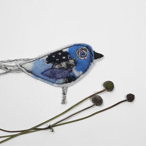 Felt bird brooch 8