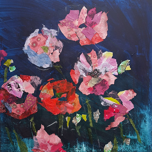 'Wild Poppies' greeting card