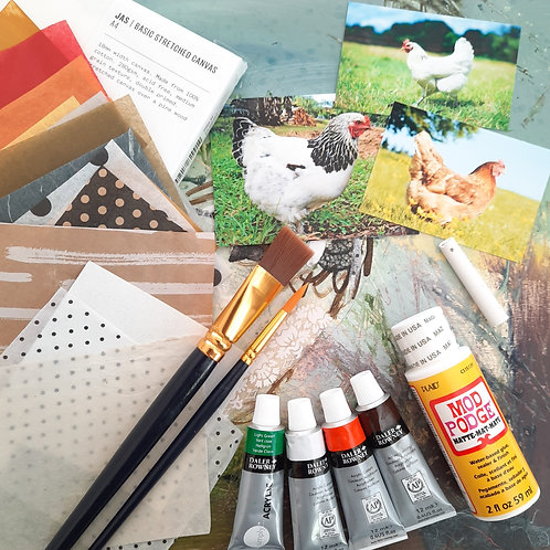 Chickens and Hens Collage Kit