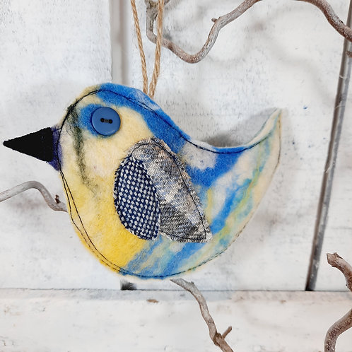 Felt bird decoration 12