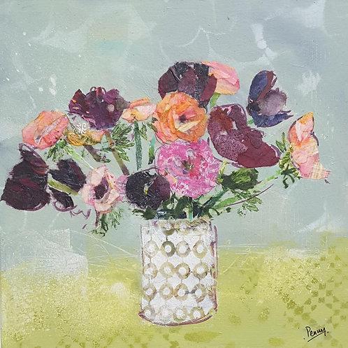 'Pink Blooms'greeting card