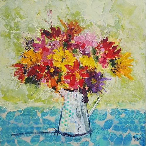 'Flower Burst ' greeting card