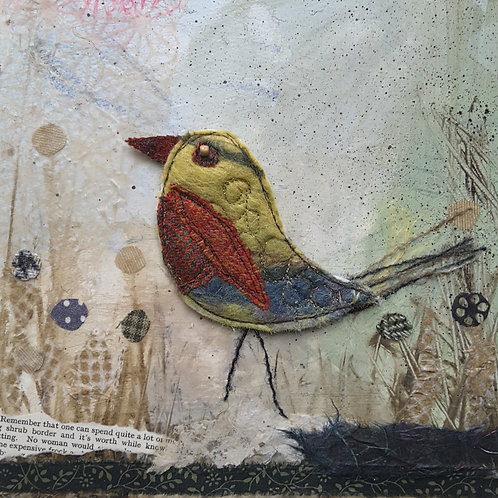'Rainbow Bird' greeting card