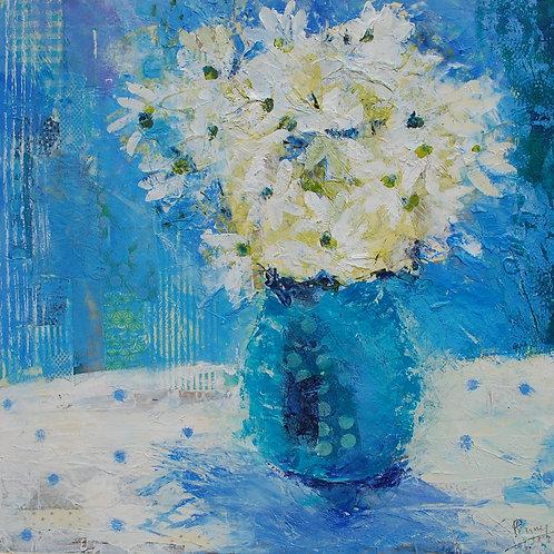 'Daisy Blues' greeting card